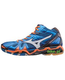 Mizuno Wave Tornado 9 MID - buty siatkarskie - niebiesko-pomarańczowe
