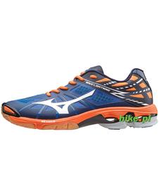 Mizuno Wave Lightning Z - buty siatkarskie - niebiesko-pomarańczowe