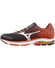 Mizuno Wave Rider 18 - buty do biegania - czarno-pomarańczowe
