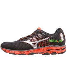 Mizuno Wave Inspire 11 - buty do biegania - czarno-pomarańczowe