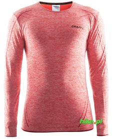 Craft Active Comfort RN LS - koszulka męska z długim rękawem czerwona