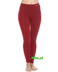 Brubeck Wool Merino ciepłe damskie getry termoaktywne czerwone