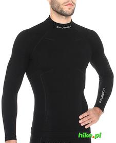 Brubeck Wool Merino wełniana męska koszulka termoaktywna czarna