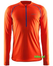 Craft Prime LS Tee - męska bluza do biegania - pomarańczowa