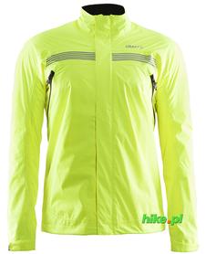 Craft Escape Rain Jacket - męska kurtka rowerowa żółto-zielona