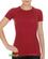 Brubeck Active Wool - koszulka damska z krótkim rękawem burgundowa