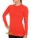 Brubeck Active Wool - koszulka damska z długim rękawem ceglasta