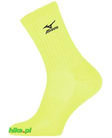 skarpety siatkarskie Mizuno Volley Sock DryLite Mid żółtozielone