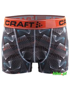 Craft Greatness Boxer 3-inch - męskie bokserki - czarne print
