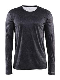 Craft Mind LS TEE - męska koszulka do biegania czarny print SS16