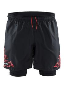 Craft Trail Shorts 2-in-1 męskie szorty 2w1 do biegania - czarne SS16