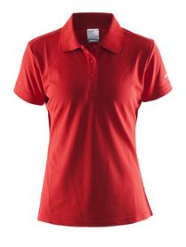 damska koszulka Craft Polo Shirt pique Classic czerwona SS16