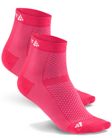 Craft Cool Mid 2-Pack Sock - skarpety sportowe - różowe