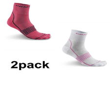 Craft Cool Training 2-Pack Sock - skarpety sportowe - białe / różowe SS16