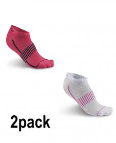 Craft Cool Training 2-Pack Shaftless Sock - skarpety sportowe - białe/różowe SS16