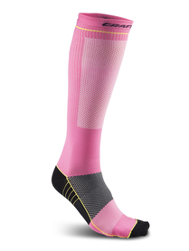 Craft Compression Sock - skarpetka sportowa - różowe SS16