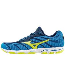 Mizuno Wave Hitogami 3 - buty do biegania - niebiesko-żółte SS16