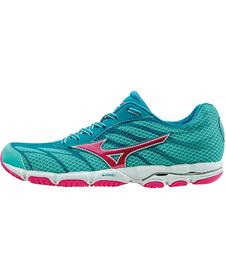 Mizuno Wave Hitogami 3 -  damskie buty do biegania - morsko-różowe SS16