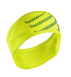 Compressport HeadBand ON/OFF- opaska na głowę - jaskrawy żółty