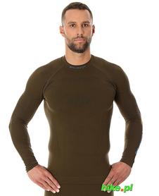 Brubeck Thermo męska koszulka termoaktywna khaki
