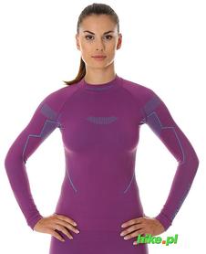 Brubeck Thermo damska koszulka termoaktywna śliwkowa