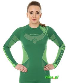 Brubeck Dry damska koszulka termoaktywna długi rękaw zielony/limonka