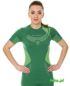 Brubeck Dry damska koszulka termoaktywna krótki rękaw zielony/limonka
