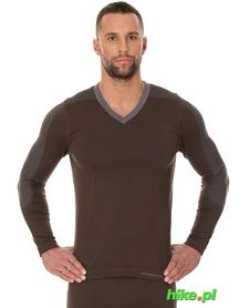 Brubeck piżama Comfort Night - koszulka męska z długim rękawem brązowa