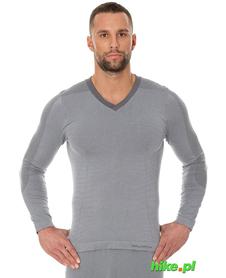 Brubeck piżama Comfort Night - koszulka męska z długim rękawem szara