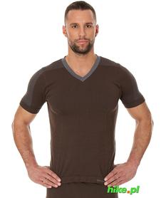 Brubeck piżama Comfort Night - koszulka męska z krótkim rękawem brązowa