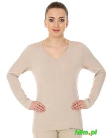 Brubeck piżama Comfort Night - koszulka damska z długim rękawem cappuccino