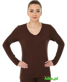Brubeck piżama Comfort Night - koszulka damska z długim rękawem czekoladowa