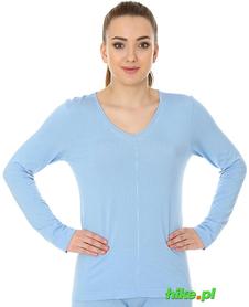 Brubeck piżama Comfort Night - koszulka damska z długim rękawem błękitna