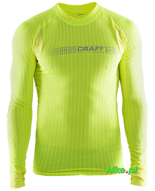 Craft Be Active Extreme 2.0 - koszulka męska z długim rękawem żółtozielona