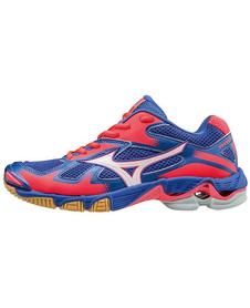 Mizuno Wave Bolt 5 - damskie buty siatkarskie - niebiesko-różowe