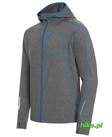 Męska bluza do biegania z kapturem Robin szara/niebieska