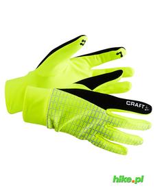 Craft Brilliant 2.0 Thermal Glove zimowe rękawiczki do biegania żółtozielone