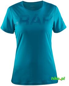 Craft Prime Logo Tee - damska koszulka - zielononiebieska