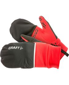 rękawiczki hybrydowe 2w1 Craft Hybrid Weather Glove czarne/czerwone
