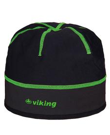 Viking Windstopper lekka, wiatroszczelna czapka czarno-zielona
