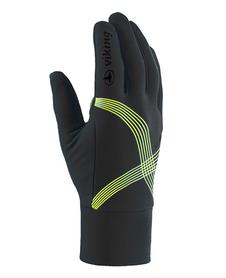 Viking Flex cienkie rękawiczki z poduszkami żelowymi czarne-zółte