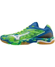 Mizuno Wave Mirage - buty halowe - niebiesko-zielone