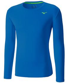 Mizuno Core LS Tee - koszulka z długim rękawem niebieska