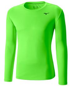 Mizuno Core LS Tee - koszulka z długim rękawem zielona