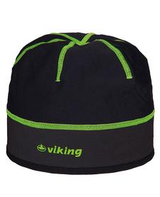 Viking Windstopper lekka, wiatroszczelna czapka czarno-żółta