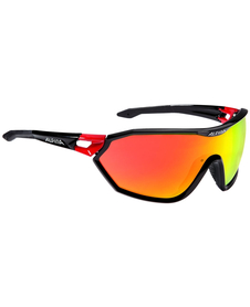 Alpina S-Way CM - okulary sportowe  czarne-czerwone