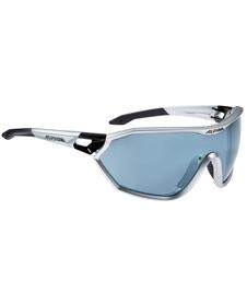 Alpina S-Way CM - okulary sportowe  czarne-srebrne