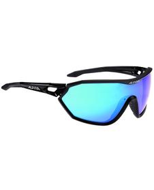 Alpina S-Way CM - okulary sportowe  czarne-niebieskie