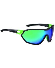 Alpina S-Way CM - okulary sportowe  czarne-zielone