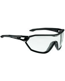 Alpina S-Way VL+ fotochrom - okulary sportowe  czarne